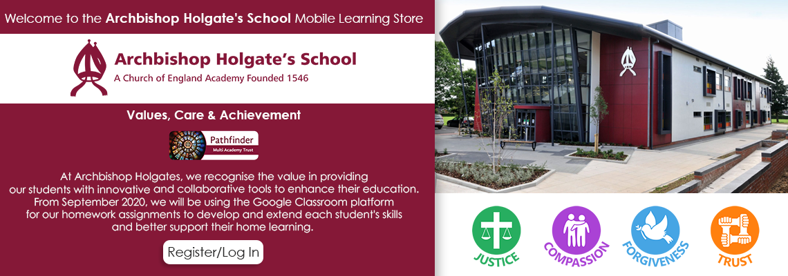Welcome to the Archbishop Holgate's School Mobile Learning Portal